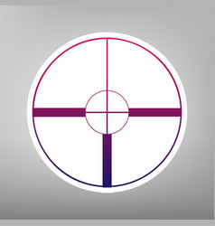 sight sign purple gradient vector image vector image
