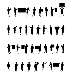 business people set vector image vector image