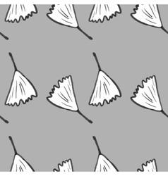 Ginkgo biloba pattern seamless Silhouette of vector image
