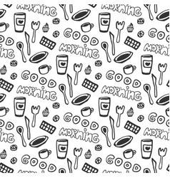 good morning seamless pattern seamless pattern vector image