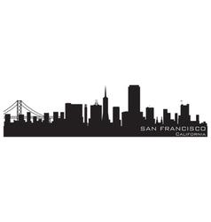 san francisco california skyline detailed silhouet vector image vector image
