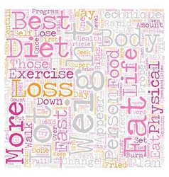 The Best Rapid Weight Loss Techniques text vector image