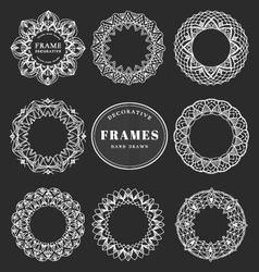Unique hand drawn decorative frames vector image vector image