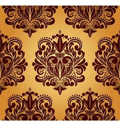 Beautiful seamless damask pattern vector image vector image