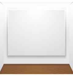 Blank canvas on display vector image vector image