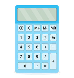 Device calculator isolated vector image