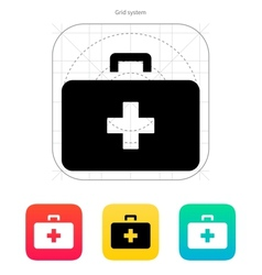 Doctor suitcase icon vector image