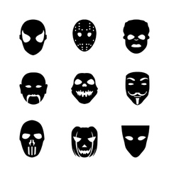 Festive carnival icons vector image