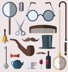 Gentlemens vintage stuff design elements set vector image vector image