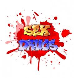 graffiti elements background vector image
