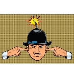 Head bomb the concept of a terrorist and spy vector