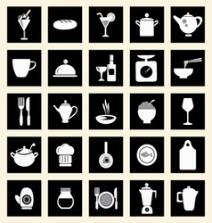 icons set kitchen-related utensils Icons vector image vector image