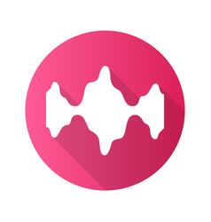 Abstract fluid waveforms pink flat design long vector
