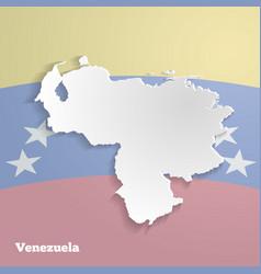 Abstract icon map of venezuela vector