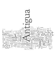 antigua yacht vector image