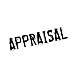 Appraisal rubber stamp vector