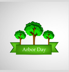 Arbor day background vector