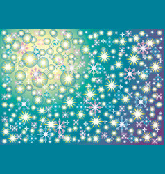 Background soft blue green yellow of a starry sky vector
