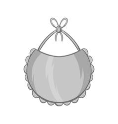 Bib icon black monochrome style vector image