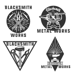 Blacksmith graphic vintage emblems vector image