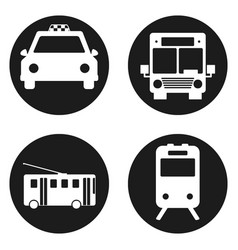 bus trolleybus subway train taxi - public vector image
