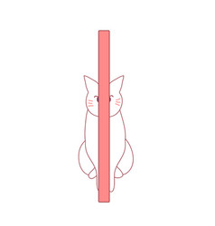 Cat play hide and seek behide the pole vector