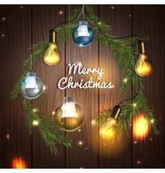 Christmas tree garland vector image