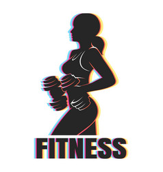 Colorful fitness emblem vector