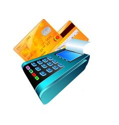 Credit card reader vector