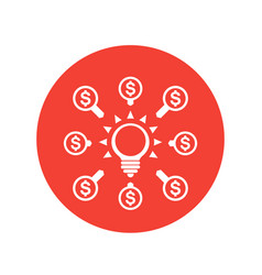 Crowdfunding icon funding contributions symbol vector