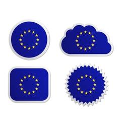 European Union flag labels vector image