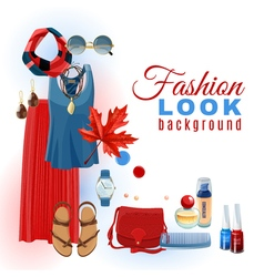 Fashion Look Background vector