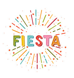 fiesta banner and poster concept design vector image