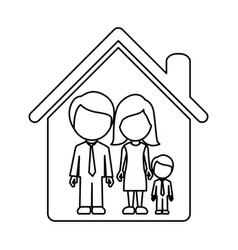 Figure family together icon vector