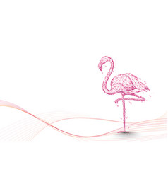 Flamingo and lines art from lines triangles vector