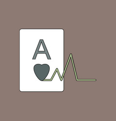 Flat icon design collection ace of hearts vector