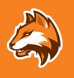 Fox head sport logotype vector
