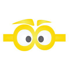 Funny yellow eye mask vector