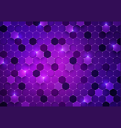 futuristic cyber hexagon background vector image