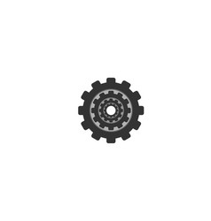 gear machine factory logo designs inspiration vector image