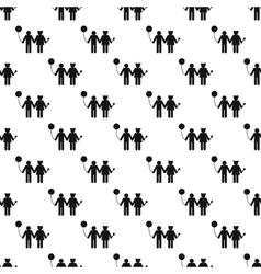 Girl and boy pattern seamless vector image vector image