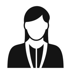 Girl avatar simple sign vector