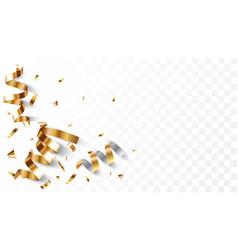 gold confetti banner vector image