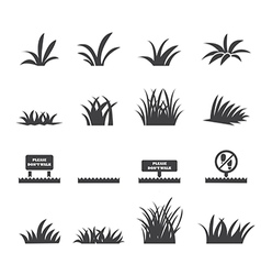 Grass icon set vector
