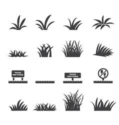 grass icon set vector image