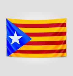 Hanging flag of catalonia catalonia referendum vector