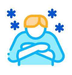 human with chill icon outline vector image