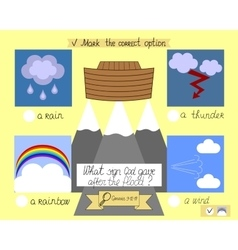 Lesson and the task for kids about the ark and vector