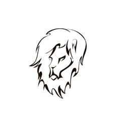 lion head Company logo design vector image