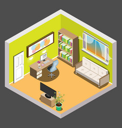 living room isometric vector image
